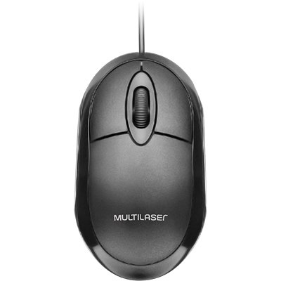 Mouse óptico usb classic box full black MO300 Multilaser CX 1 UN