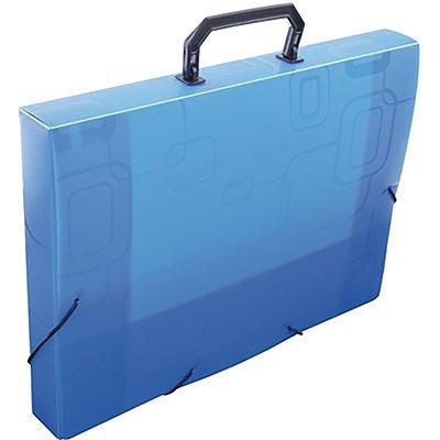 Maleta polipropileno ofício 40mm azul Dello PT 1 UN