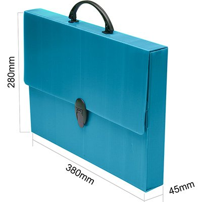 Maleta novaonda ofício 380x280x45mm azul Polibrás PT 1 UN