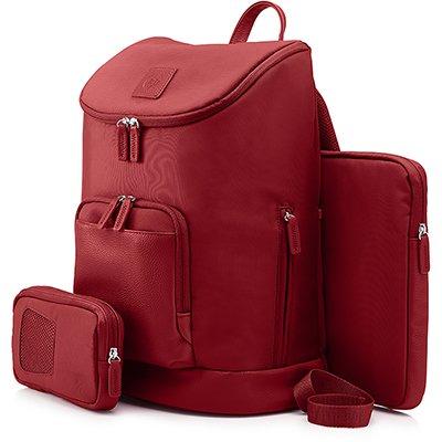 """Mochila p/notebook 15,6"""" Cayman vermelha T0E14AA HP PT 1 UN"""