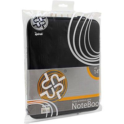 "Capa luva p/notebook 14"" em neoprene preta Up PT 1 UN"