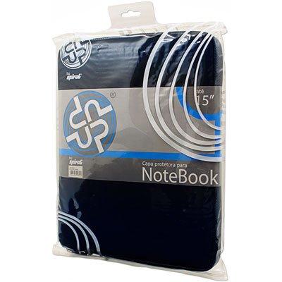 "Capa luva p/notebook 15"" em neoprene azul Up PT 1 UN"