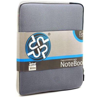 "Capa luva p/notebook 15"" em neoprene cinza Up PT 1 UN"