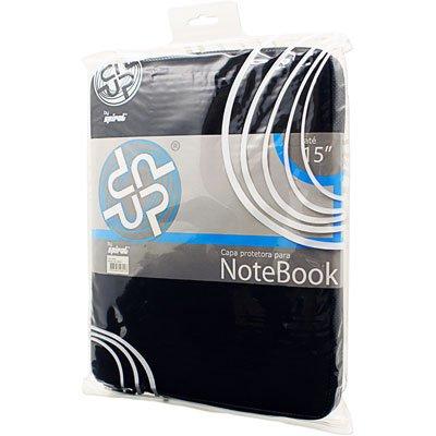 "Capa luva p/notebook 15"" em neoprene preta Up PT 1 UN"