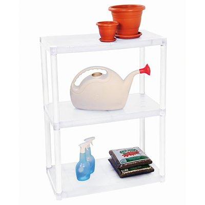 Estante plástica c/ 3 prateleiras branca OR44000 Ordene PT 1 UN