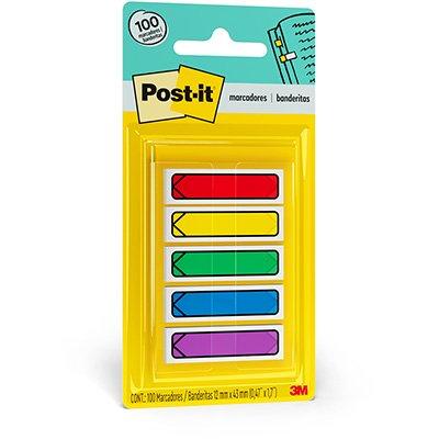 Marcador de Página Adesivo Post-it® Flag Seta 5 Cores Sortidas 3M BT 100 UN