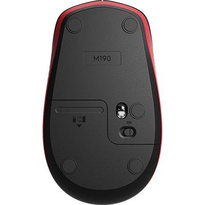 Mouse sem fio Full Size M190 vermelho 910-005904 Logitech CX 1 UN