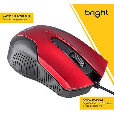 Mouse óptico usb Canadá 02210 Bright BT 1 UN