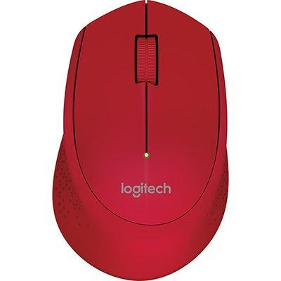 Mouse sem fio Logitech M280 com Conexão USB e Pilha Inclusa - Vermelho CX 1 UN
