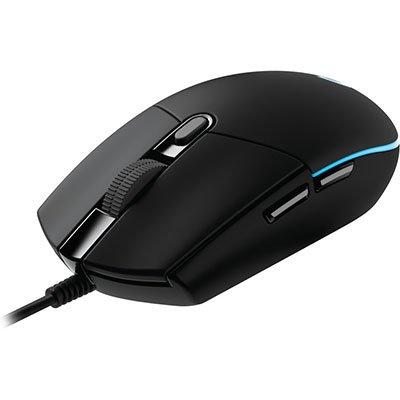 Mouse Gamer RGB Logitech G203 Prodigy com Tecnologia LIGHTSYNC, 6 Botões Programáveis e Até 8.000 DPI CX 1 UN