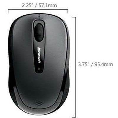 Mouse sem fio Wireless Mobile 3500 preto GMF-00380 MFT Microsoft CX 1 UN