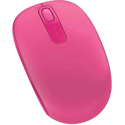 Mouse sem fio Wireless Mobile 1850 rosa U7Z-00062 MFT Microsoft CX 1 UN