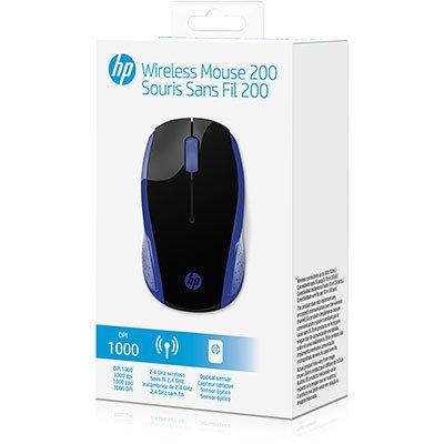 Mouse sem fio usb azul X200 2HU85AA HP CX 1 UN