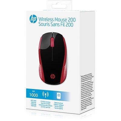Mouse sem fio usb vermelho X200 2HU82AA HP CX 1 UN