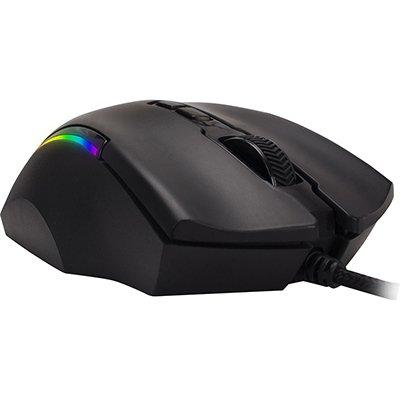 Mouse Gamer USB 4000 Dpi Pro M9 RGB preto 64387 Fortrek CX 1 UN
