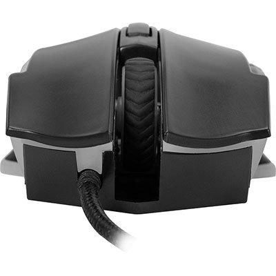 Mouse Gamer USB 4800 Dpi Pro M5 Rgb preto 64385 Fortrek CX 1 UN