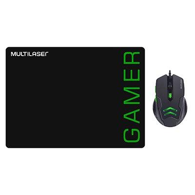 Mouse Gamer usb 3200 Dpi c/ Mouse Pad verde MO273 Multilaser CX 1 UN