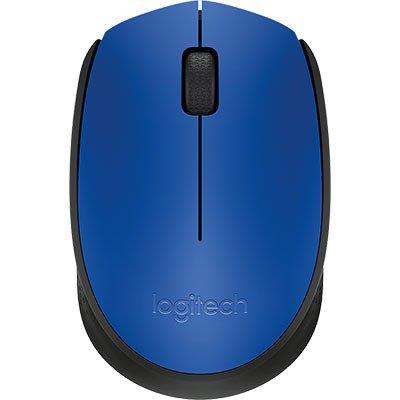 Mouse sem fio Logitech M170 com Design Ambidestro Compacto, Conexão USB e Pilha Inclusa - Azul CX 1 UN