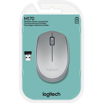 Mouse sem fio prata M170 Logitech BT 1 UN
