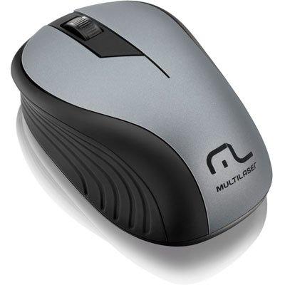 Mouse sem fio usb preto/grafite MO213 Multilaser CX 1 UN