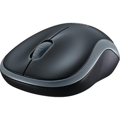 Mouse sem fio Logitech M185 com Design Ambidestro Compacto, Conexão USB e Pilha Inclusa - Cinza CX 1 UN