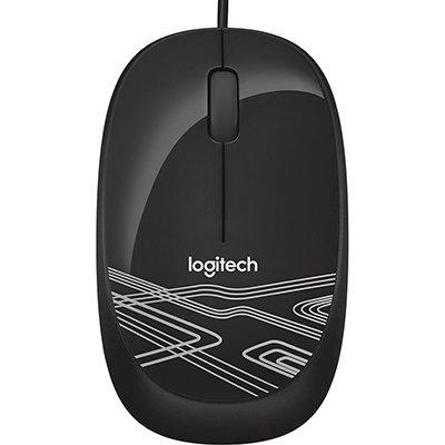 Mouse com fio USB Logitech M105 - Preto BT 1 UN