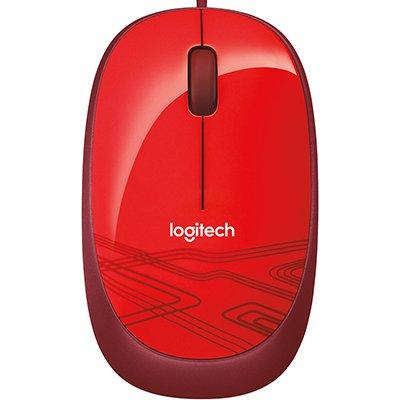 Mouse óptico usb vermelho HD M105 Logitech BT 1 UN