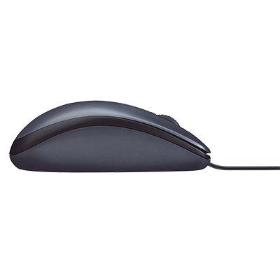 Mouse com fio USB Logitech M90 - Cinza BT 1 UN