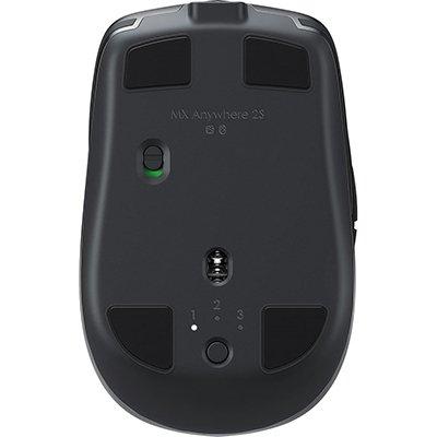 Mouse sem fio Logitech MX Anywhere 2S para Uso em Qualquer Superfície, USB Unifying ou Bluetooth para até 3 dispositivos, Recarregável CX 1 UN