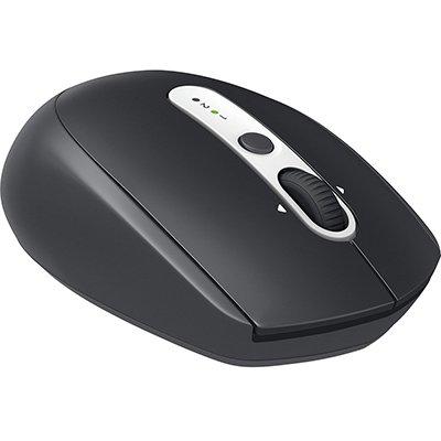 Mouse sem fio Logitech M585 com Tecnologia FLOW, Conexão USB Unifying ou Bluetooth para até 2 dispositivos e Pilha Inclusa CX 1 UN