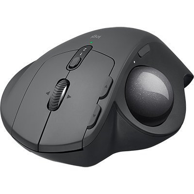 Mouse sem fio Logitech Trackball MX Ergo com Ajuste de Ângulo, USB Unifying ou Bluetooth para até 3 dispositivos, Recarregável CX 1 UN