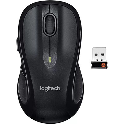 Mouse sem fio Logitech M510 com Conexão USB Unifying e Pilha Inclusa CX 1 UN