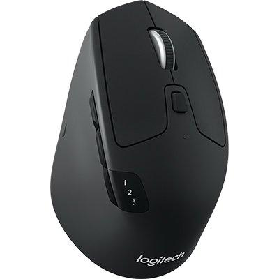 Mouse sem fio Logitech M720 Triathlon com Tecnologia FLOW, USB Unifying ou Bluetooth para até 3 dispositivos e Pilha Inclusa CX 1 UN