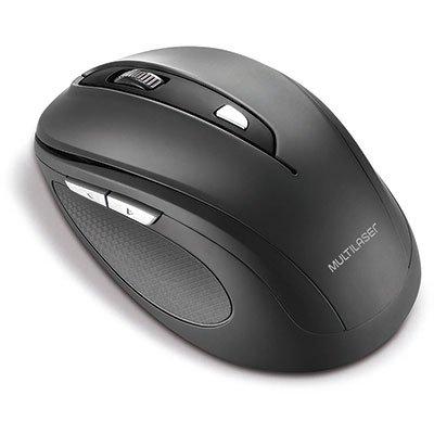 Mouse sem fio preto MO237 Multilaser BT 1 UN