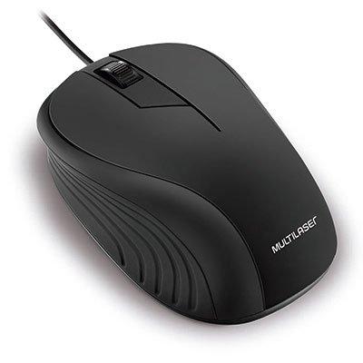 Mouse óptico usb preto MO222 Multilaser BT 1 UN