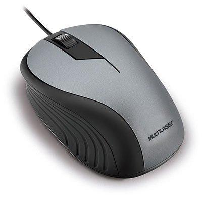 Mouse óptico usb cinza/preto MO225 Multilaser BT 1 UN
