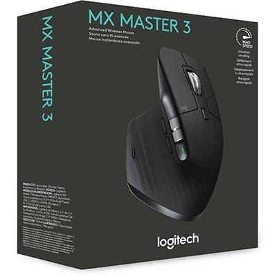Mouse sem fio Logitech MX Master 3 para Uso em Qualquer Superfície, USB Unifying ou Bluetooth para até 3 dispositivos, Recarregável CX 1 UN