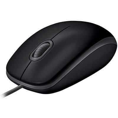 Mouse com fio USB Logitech M110 com Clique Silencioso - Preto CX 1 UN