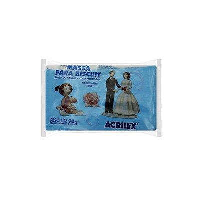 Massa de biscuit ou porcelana fria 90g azul celeste 07490 Acrilex PT 1 UN