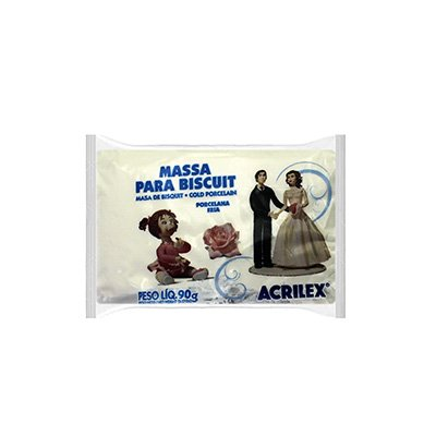 Massa de biscuit ou porcelana fria 90g branco 07490 Acrilex PT 1 UN