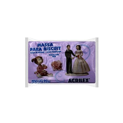 Massa de biscuit ou porcelana fria 90g lilás 07490 Acrilex PT 1 UN