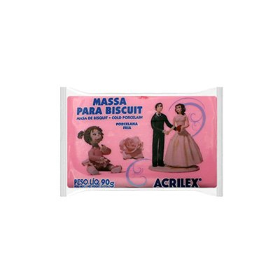 Massa de biscuit ou porcelana fria 90g rosa 07490 Acrilex PT 1 UN