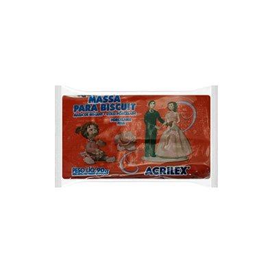 Massa de biscuit ou porcelana fria 90g vermelho 07490 Acrilex PT 1 UN