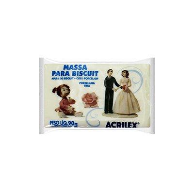 Massa de biscuit ou porcelana fria 90g natural 07490 Acrilex PT 1 UN
