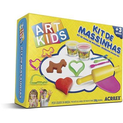 Massinha 300g ArtKids Kit  3 40003 Acrilex CX 1 UN