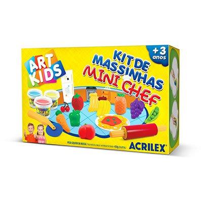 Massinha ArtKids Kit Mini chef 40008 Acrilex CX 1 UN