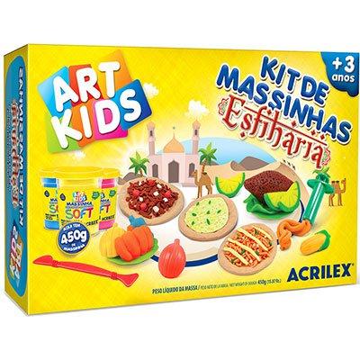 Massinha ArtKids Kit Esfiharia 40057 Acrilex PT 1 UN