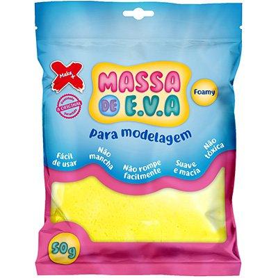 Massinha de EVA amarelo 13000 Make+ PT 1 UN