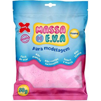 Massinha de EVA rosa bebê 13009 Make+ PT 1 UN