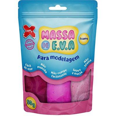 Massinha de EVA Rosa claro/ Rosa/ Pink 13018 Make+  PT 1 UN